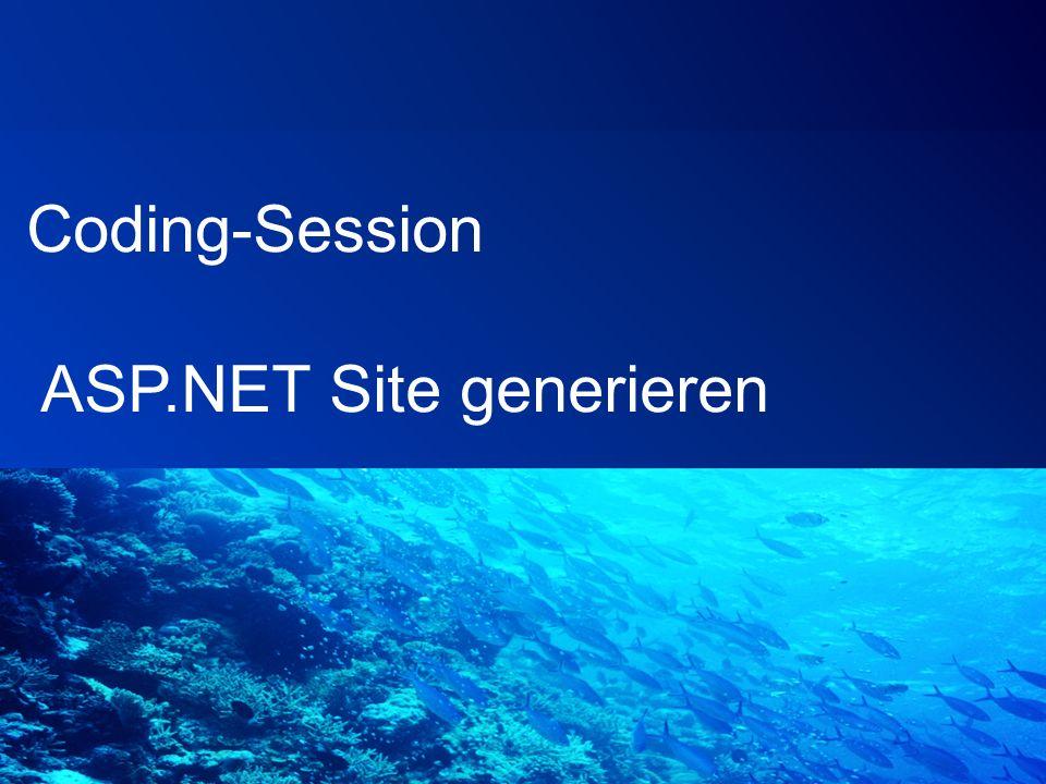 Coding-Session ASP.NET Site generieren