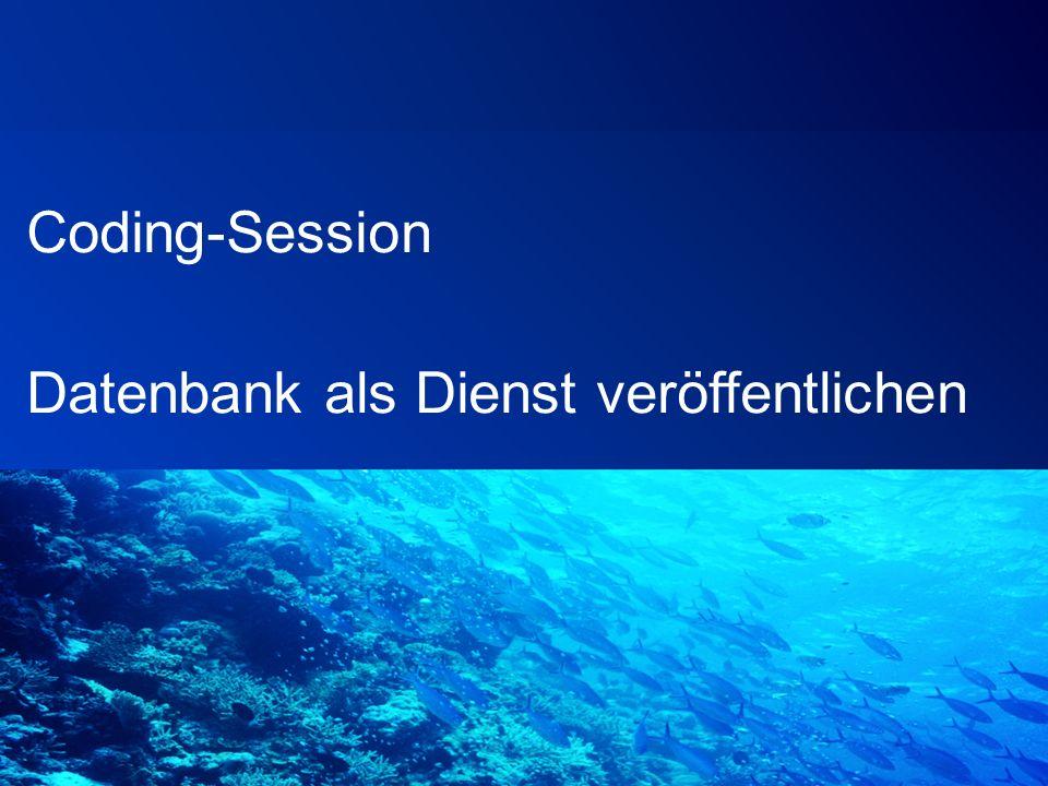 Coding-Session Datenbank als Dienst veröffentlichen