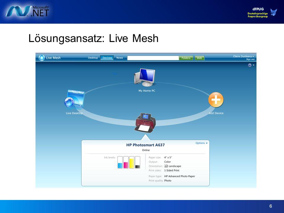 6 Lösungsansatz: Live Mesh