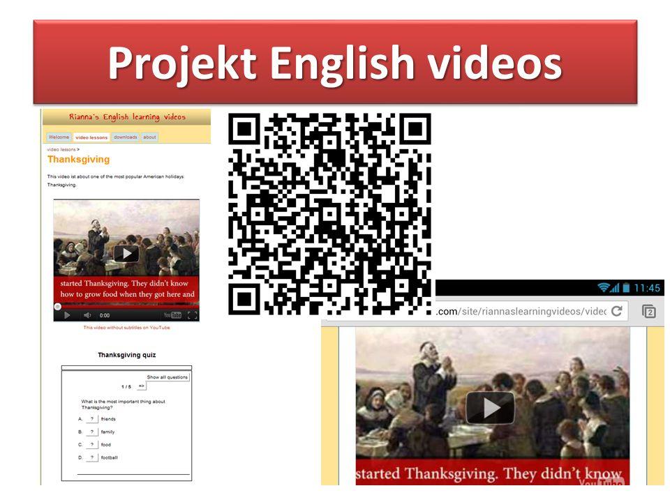 Projekt English videos