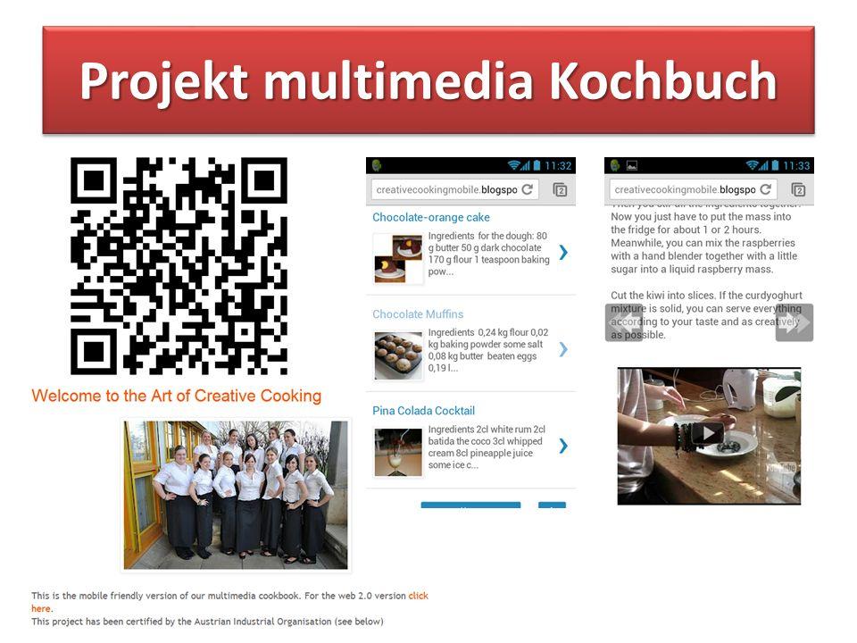 Projekt multimedia Kochbuch