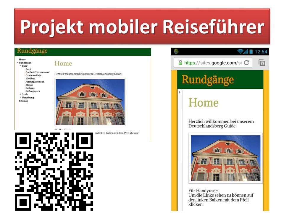 Projekt mobiler Reiseführer