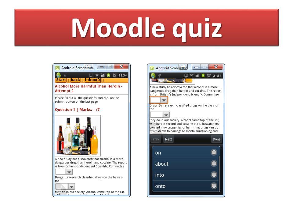 Moodle quiz
