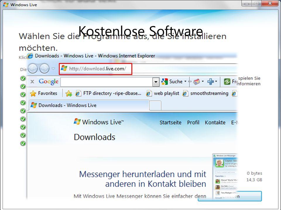 Zugriff auf Dateien von überall Onlinespeicherung und Dokumentenfreigabe Vertraute Programme als Arbeitsumgebung Kostenfreie Websites