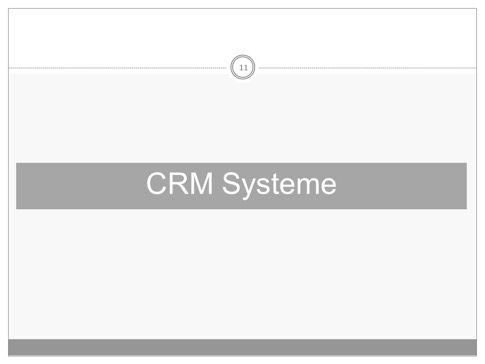 11 CRM Systeme