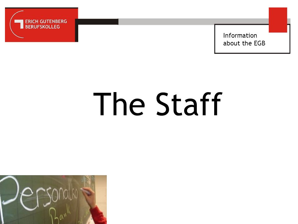 Information about the EGB Staff photo