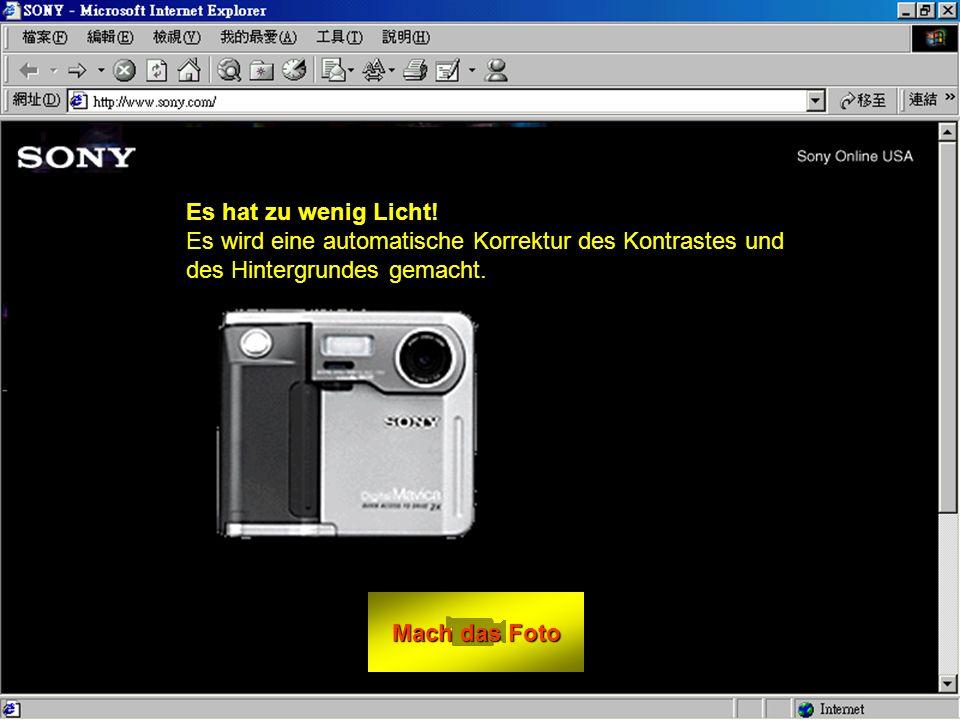Mach das Foto Mach das Foto Wie schiesst du dein Foto: - Sitze vor deinen Monitor. - Schaue direkt ins Objektiv. - klicke auf Mach das Foto. - BEWEGE