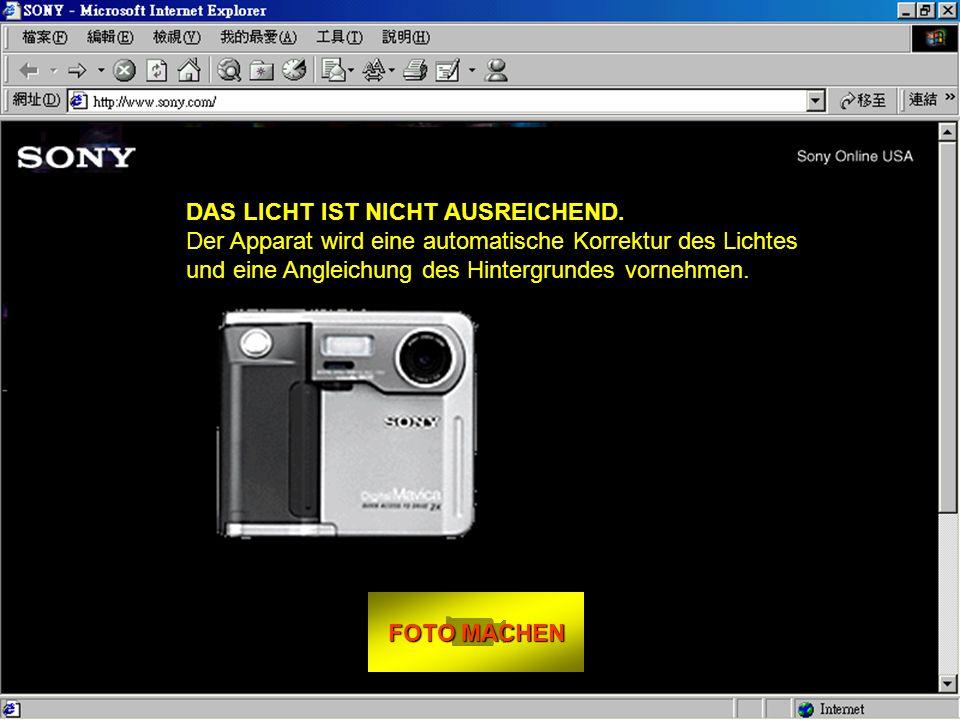 FOTO MACHEN FOTO MACHEN Und so funktioniert es: - Setzen Sie sich gegenüber ihres Bildschirms. - Schauen Sie direkt in das Objektiv. - Drücken Sie FOT