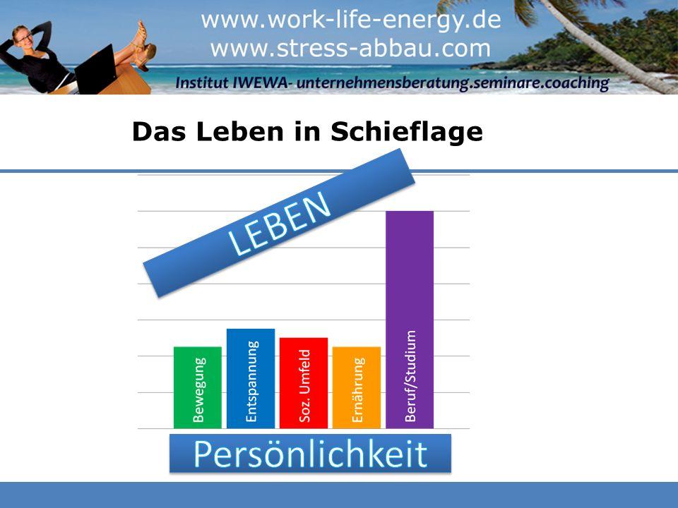 Das Leben in Schieflage Beruf/Studium