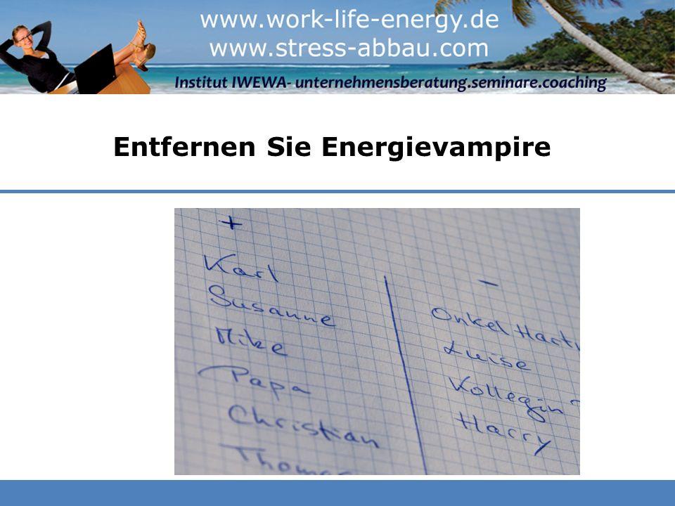 Entfernen Sie Energievampire