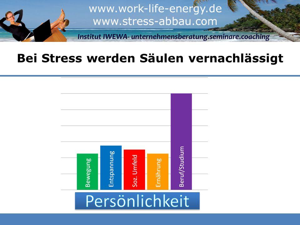 Bei Stress werden Säulen vernachlässigt Beruf/Studium