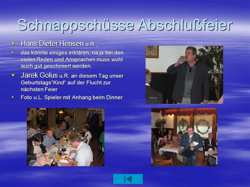 Schnappschüsse Abschlußfeier Hans Dieter Hensen o.R., Hans Dieter Hensen o.R., das könnte einiges erklären, na ja bei den vielen Reden und Ansprachen