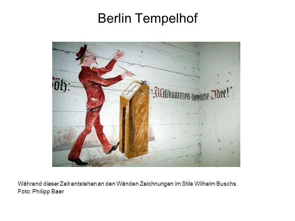 Berlin Tempelhof Während dieser Zeit entstehen an den Wänden Zeichnungen im Stile Wilhelm Buschs. Foto: Philipp Baer