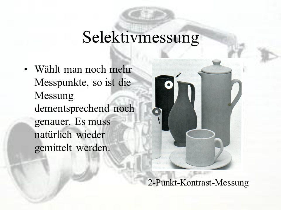 Selektivmessung Wählt man noch mehr Messpunkte, so ist die Messung dementsprechend noch genauer. Es muss natürlich wieder gemittelt werden. 2-Punkt-Ko