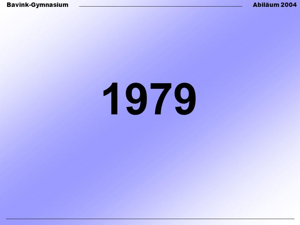 Bavink-GymnasiumAbiläum 2004 1979