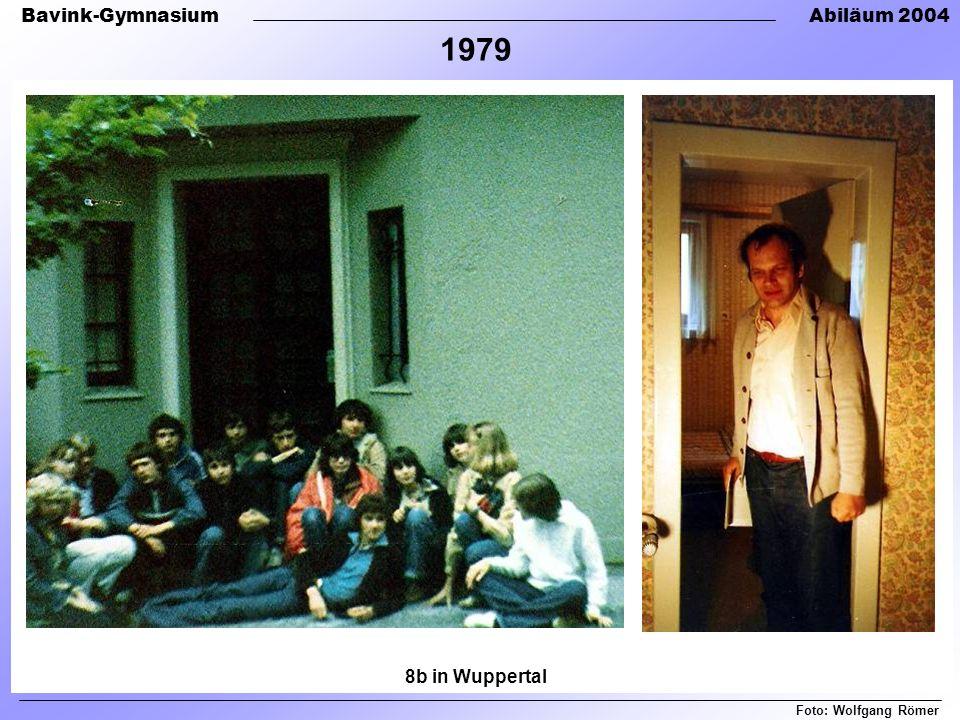 Bavink-GymnasiumAbiläum 2004 Foto: Wolfgang Römer 1979 8b in Wuppertal