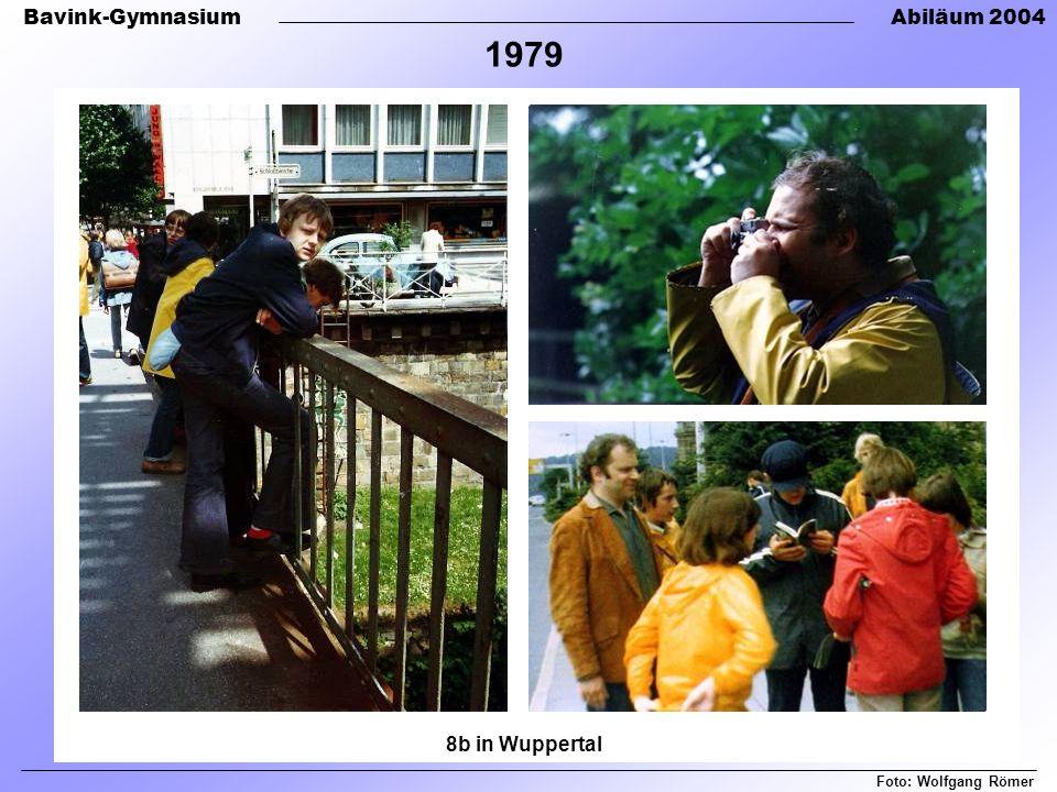 Bavink-GymnasiumAbiläum 2004 8b in Wuppertal Foto: Wolfgang Römer 1979