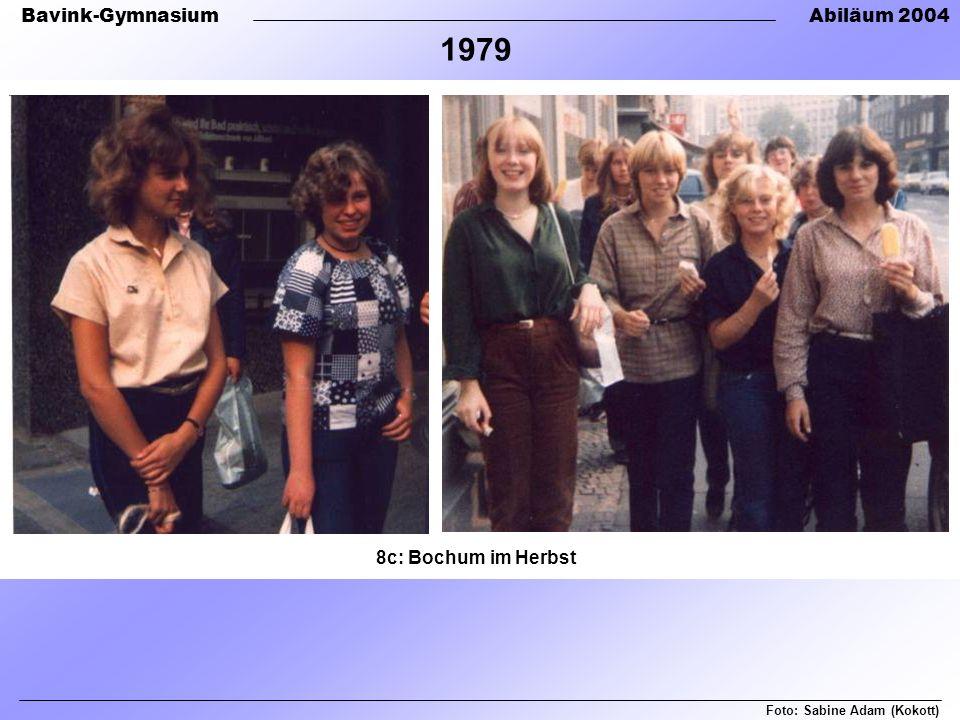 Bavink-GymnasiumAbiläum 2004 8c: Bochum im Herbst Foto: Sabine Adam (Kokott) 1979