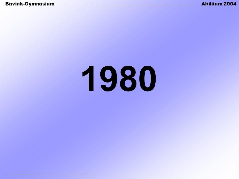 Bavink-GymnasiumAbiläum 2004 1980