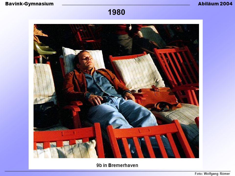 Bavink-GymnasiumAbiläum 2004 Foto: Wolfgang Römer 1980 9b in Bremerhaven