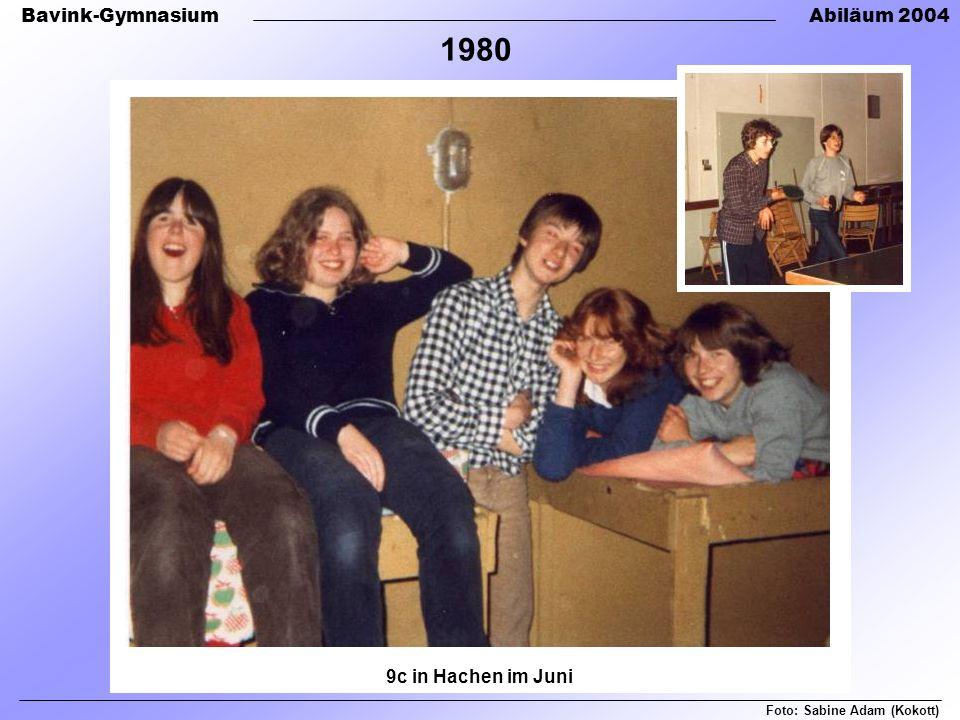 Bavink-GymnasiumAbiläum 2004 Foto: Sabine Adam (Kokott) 1980 9c in Hachen im Juni