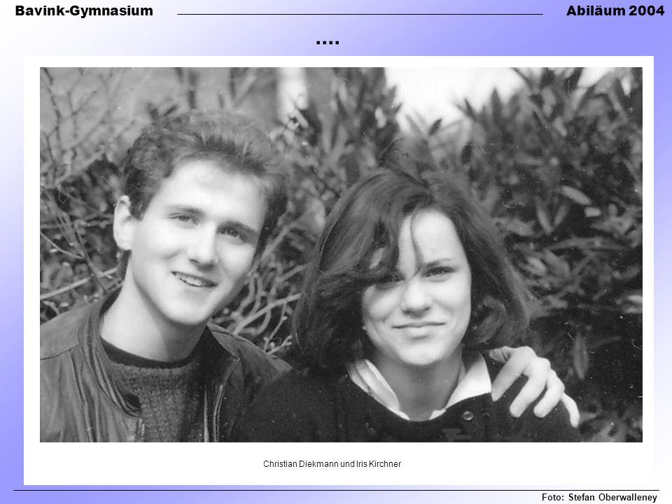 Bavink-GymnasiumAbiläum 2004 Christian Diekmann und Iris Kirchner Foto: Stefan Oberwalleney....