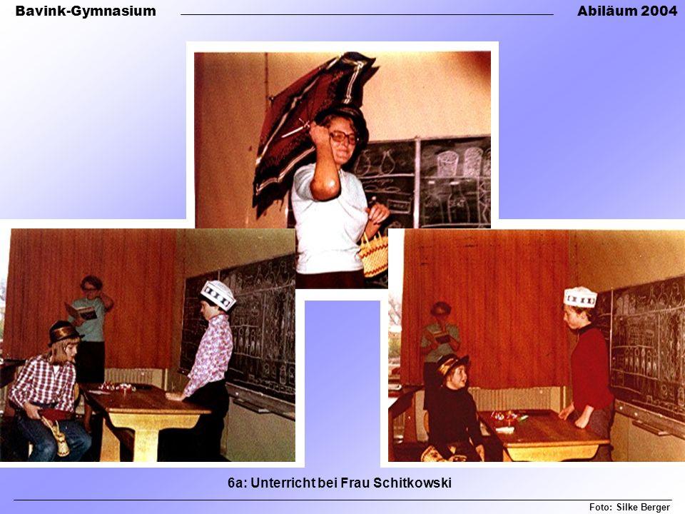 Bavink-GymnasiumAbiläum 2004 Foto: Silke Berger 6a: Unterricht bei Frau Schitkowski