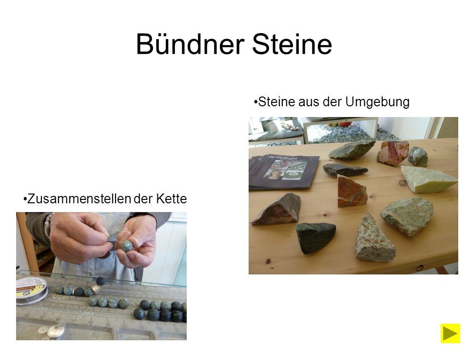 Der Weg bis zum Laden Einheimische Steine: In Deutschland geschliffen Im Laden zu Ketten zusammengestellt