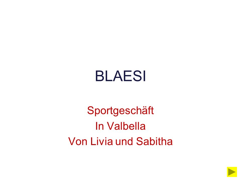 Sportgeschäft In Valbella Von Livia und Sabitha BLAESI
