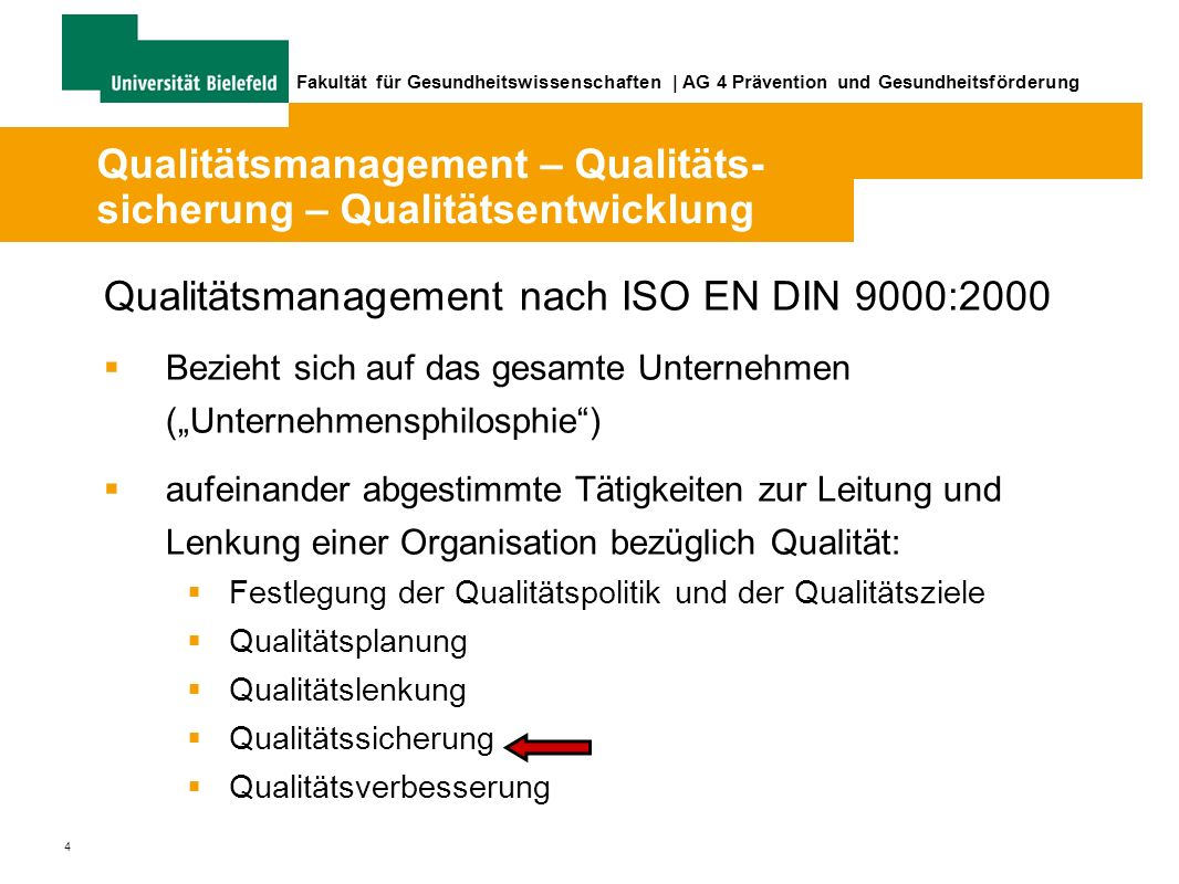 Fakultät für Gesundheitswissenschaften   AG 4 Prävention und Gesundheitsförderung www.partizipative-qualitaetsentwicklung.de