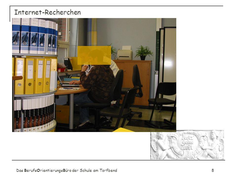 Das BerufsOrientierungsBüro der Schule am Torfbend8 Internet-Recherchen
