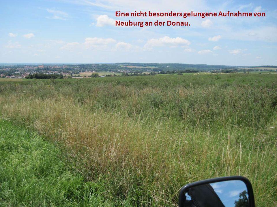 Eine nicht besonders gelungene Aufnahme von Neuburg an der Donau.