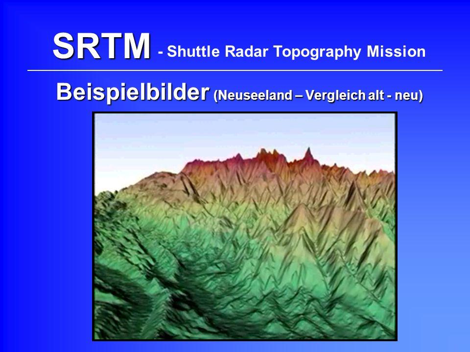 SRTM Beispielbilder (Neuseeland – Vergleich alt - neu) - Shuttle Radar Topography Mission