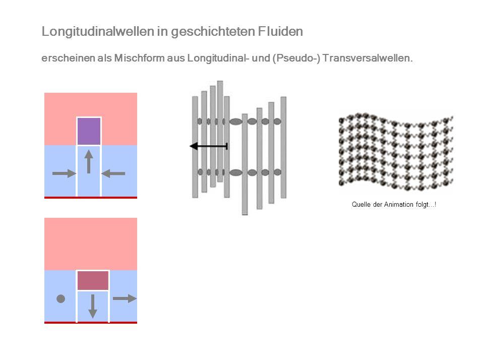 Longitudinalwellen in geschichteten Fluiden erscheinen als Mischform aus Longitudinal- und (Pseudo-) Transversalwellen. Quelle der Animation folgt...!