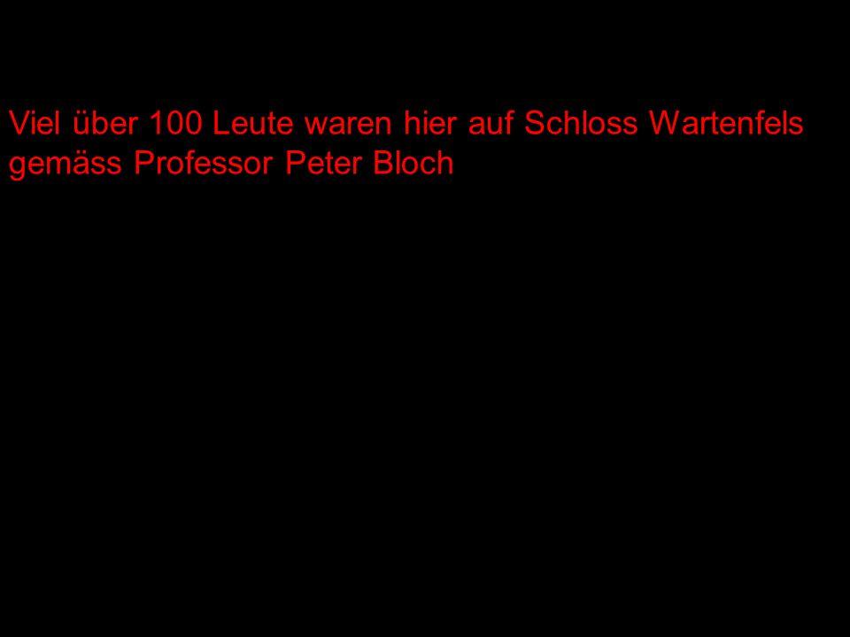 Viel über 100 Leute waren hier auf Schloss Wartenfels gemäss Professor Peter Bloch