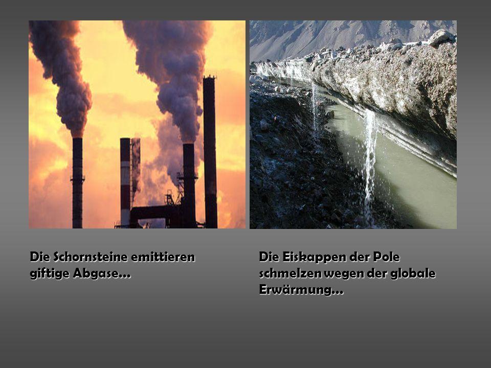 Die Schornsteine emittieren giftige Abgase...