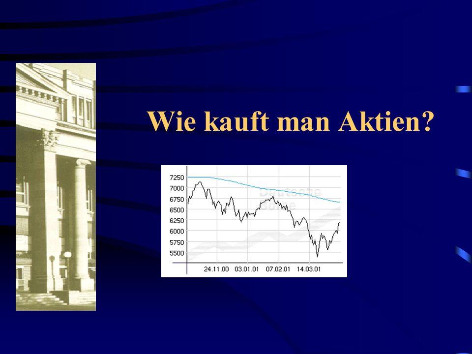 Wie kauft man Aktien