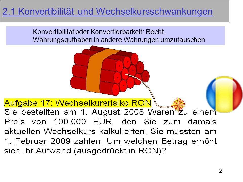 13 Devisentermingeschäfte (30.03.2009) Kassakurs 1,51680 + Swapsatz- 0,00269 = Terminkurs=1,51411