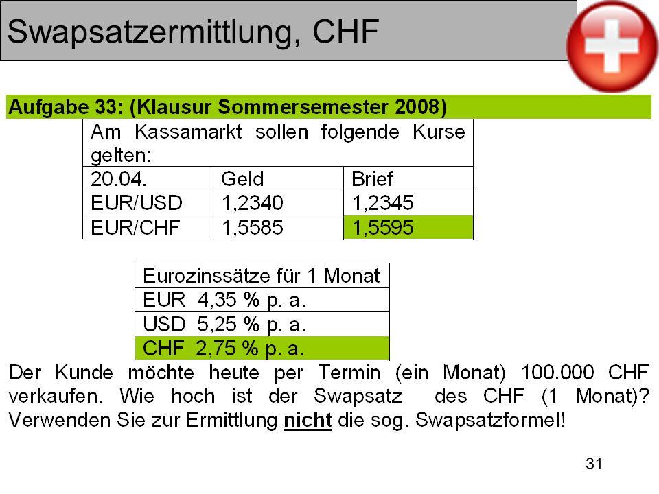 31 Swapsatzermittlung, CHF