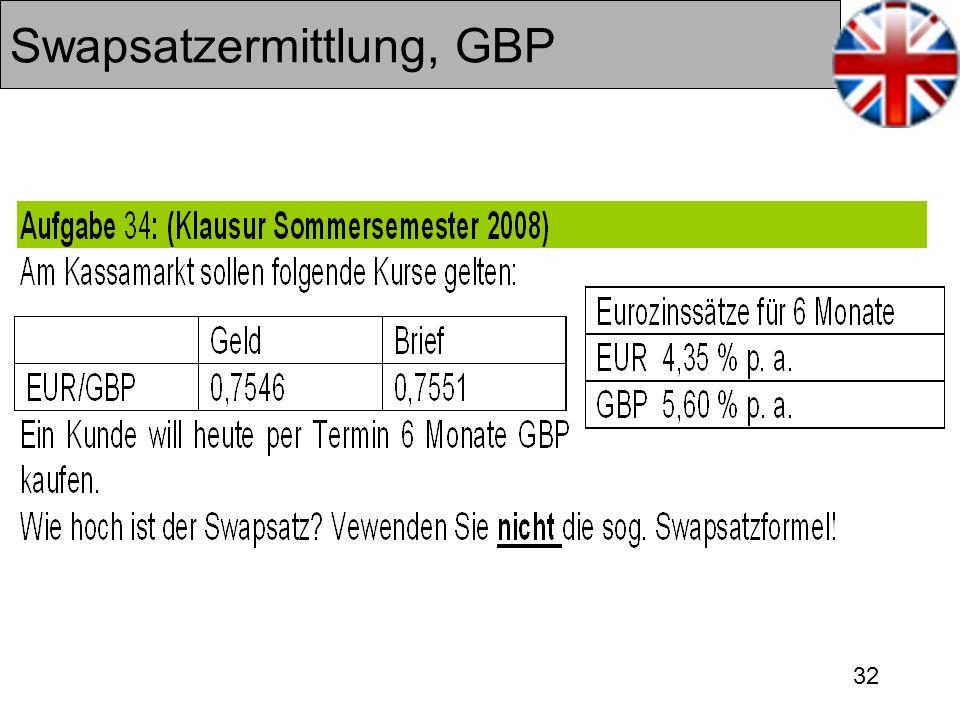 32 Swapsatzermittlung, GBP
