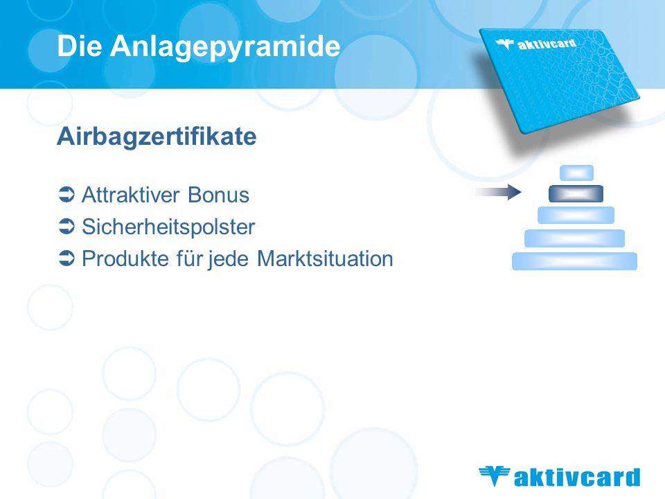 Airbagzertifikate Attraktiver Bonus Sicherheitspolster Produkte für jede Marktsituation Die Anlagepyramide