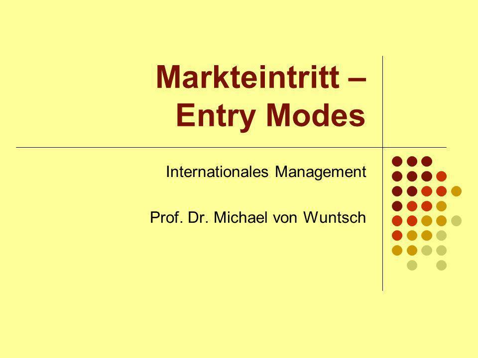 Einführung Markteintritt Markteinführung von Produkten, Technologien, Know-how sowie anderer Ressourcen eines Unternehmens