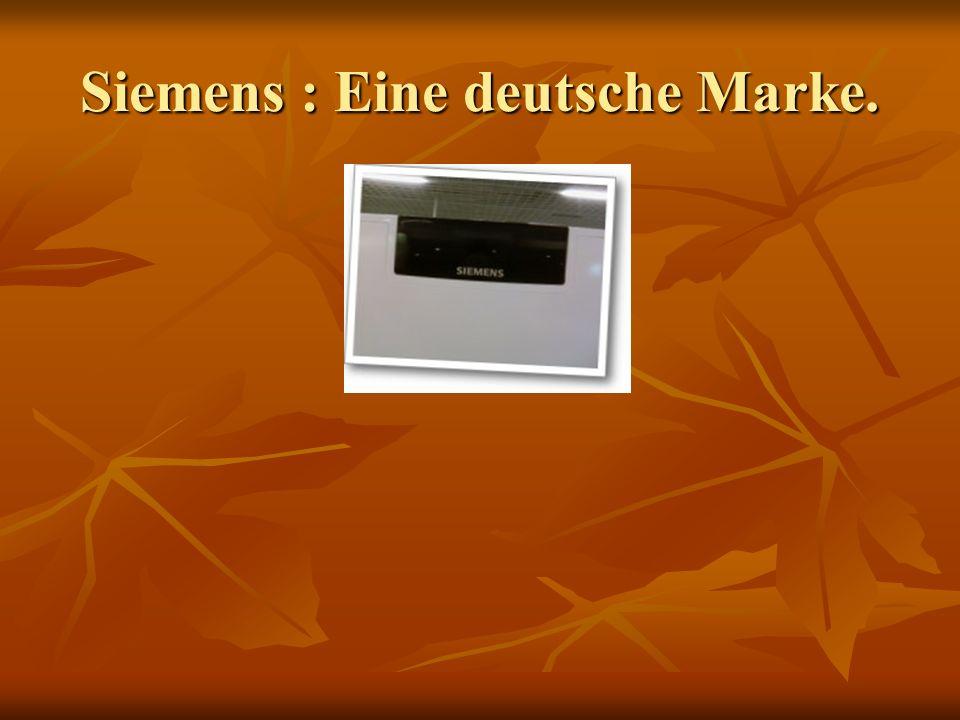 Siemens : Eine deutsche Marke.