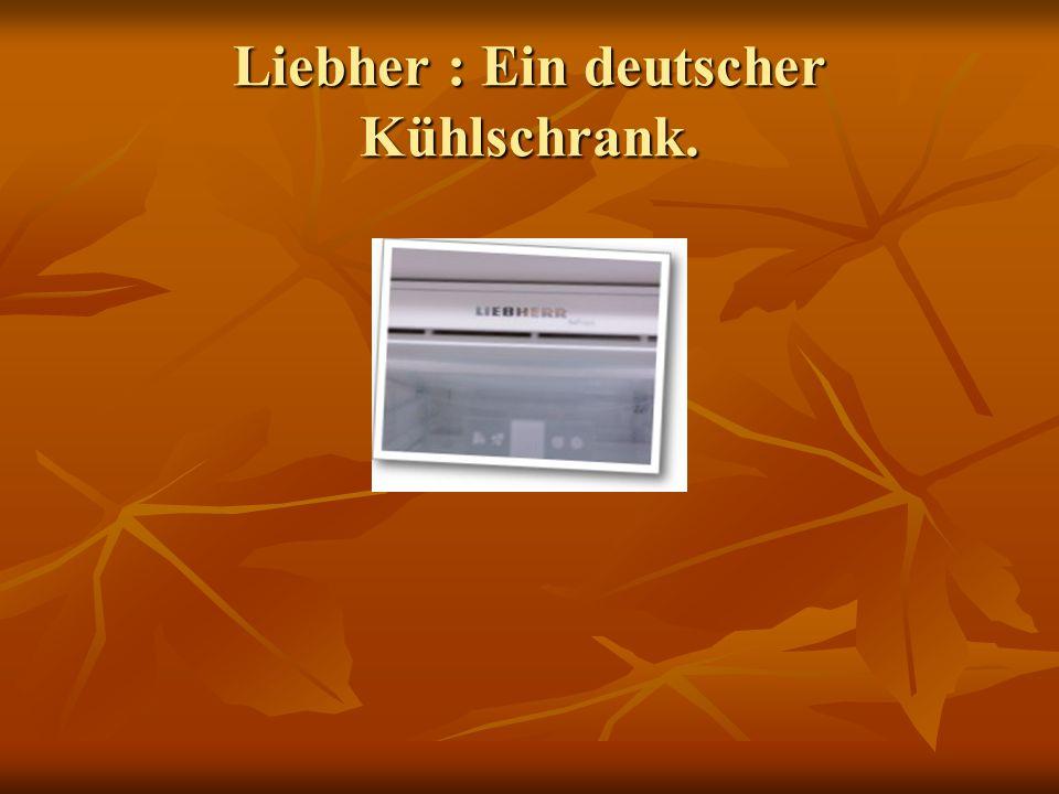 Liebher : Ein deutscher Kühlschrank.