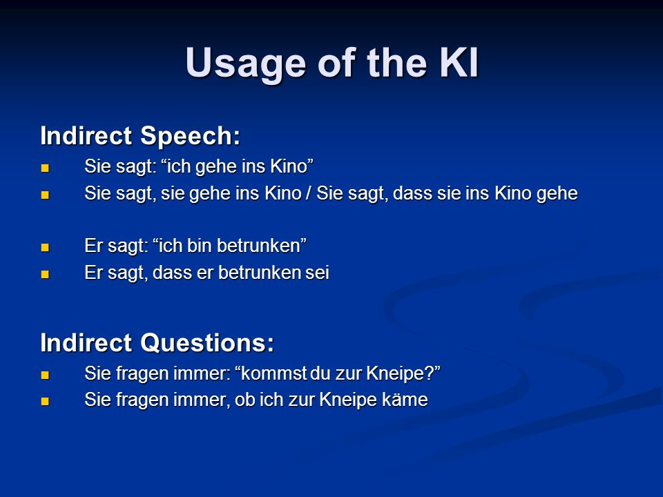 Usage of the KI Indirect Imperative: Er sagt: Rufe mich morgen an.