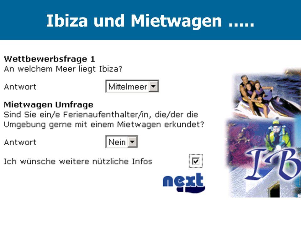 Ibiza und Mietwagen.....