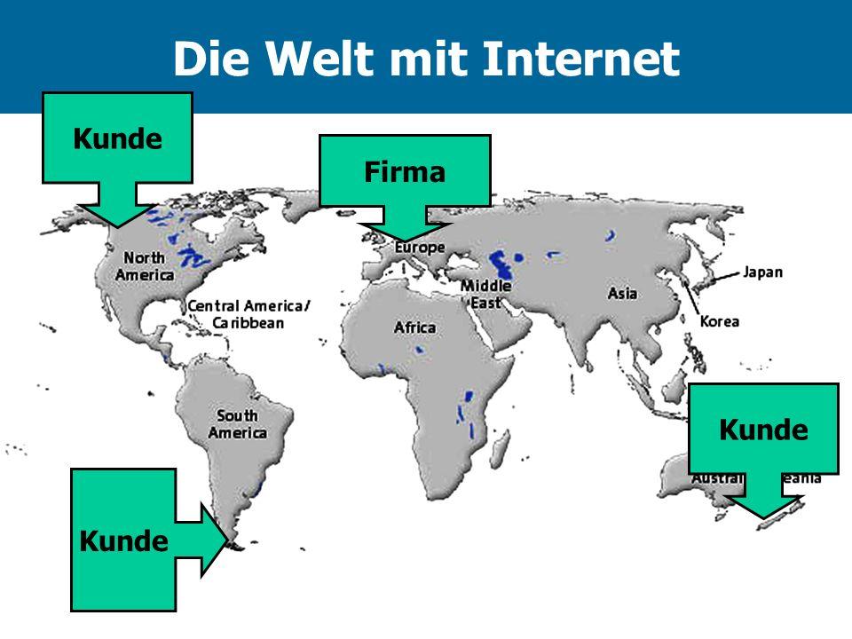 Die Welt mit Internet Firma Kunde