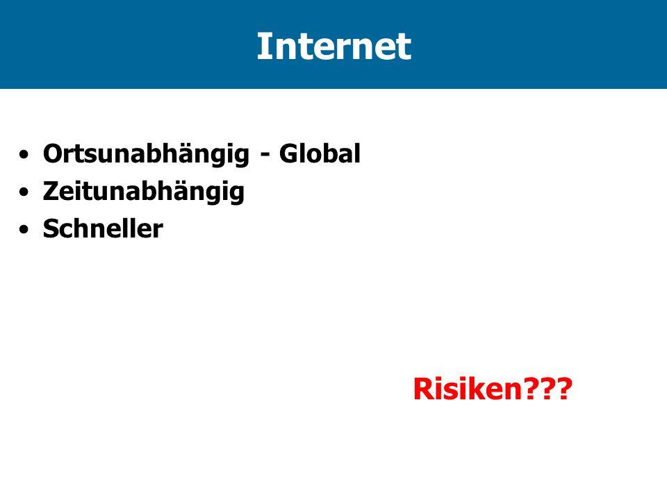 Internet Ortsunabhängig - Global Zeitunabhängig Schneller Risiken???