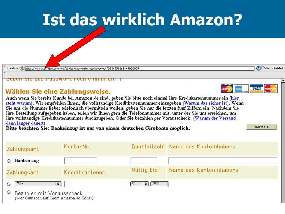 Ist das wirklich Amazon?