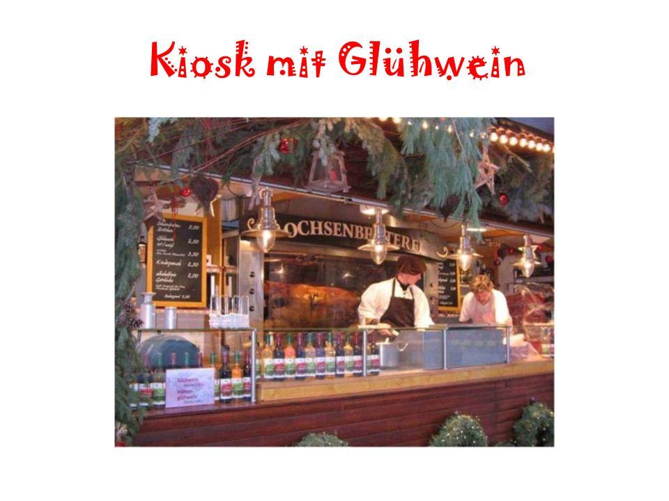 Kiosk mit Glühwein